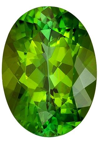 Serious Gem in 5.24 carats Tourmaline Loose Genuine Gemstone in Oval Cut, Rich Green, 13.2 x 9.5 mm