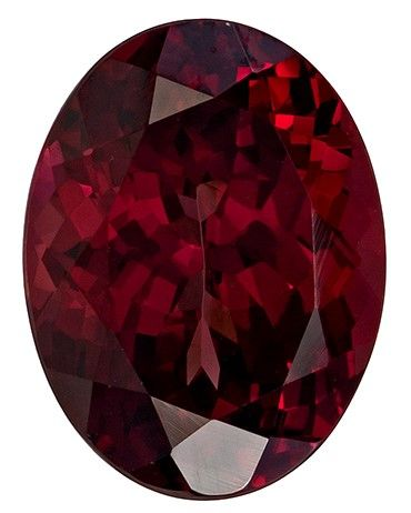 Serious Gem in 5.54 carats Rhodolite Loose Genuine Gemstone in Oval Cut, Rich Raspberry, 11.9 x 9 mm