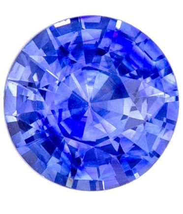 Serious Gem in 6.5 mm Sapphire Loose Gemstone in Round Cut, Medium Blue, 1.18 carats