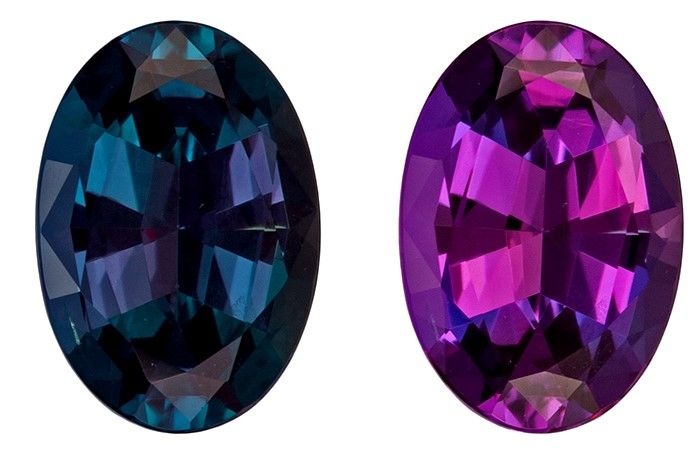 Serious Gem in 6.9 x 4.8 mm Alexandrite Loose Gemstone in Oval Cut, Rich Teal to Burgundy Eggplant, 0.74 carats