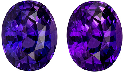 Color Shift GIA Certified 3.85 carats Sapphire Gemstone in Oval Cut, Pink to Purple Shift in 10.4 x 8.2 mm