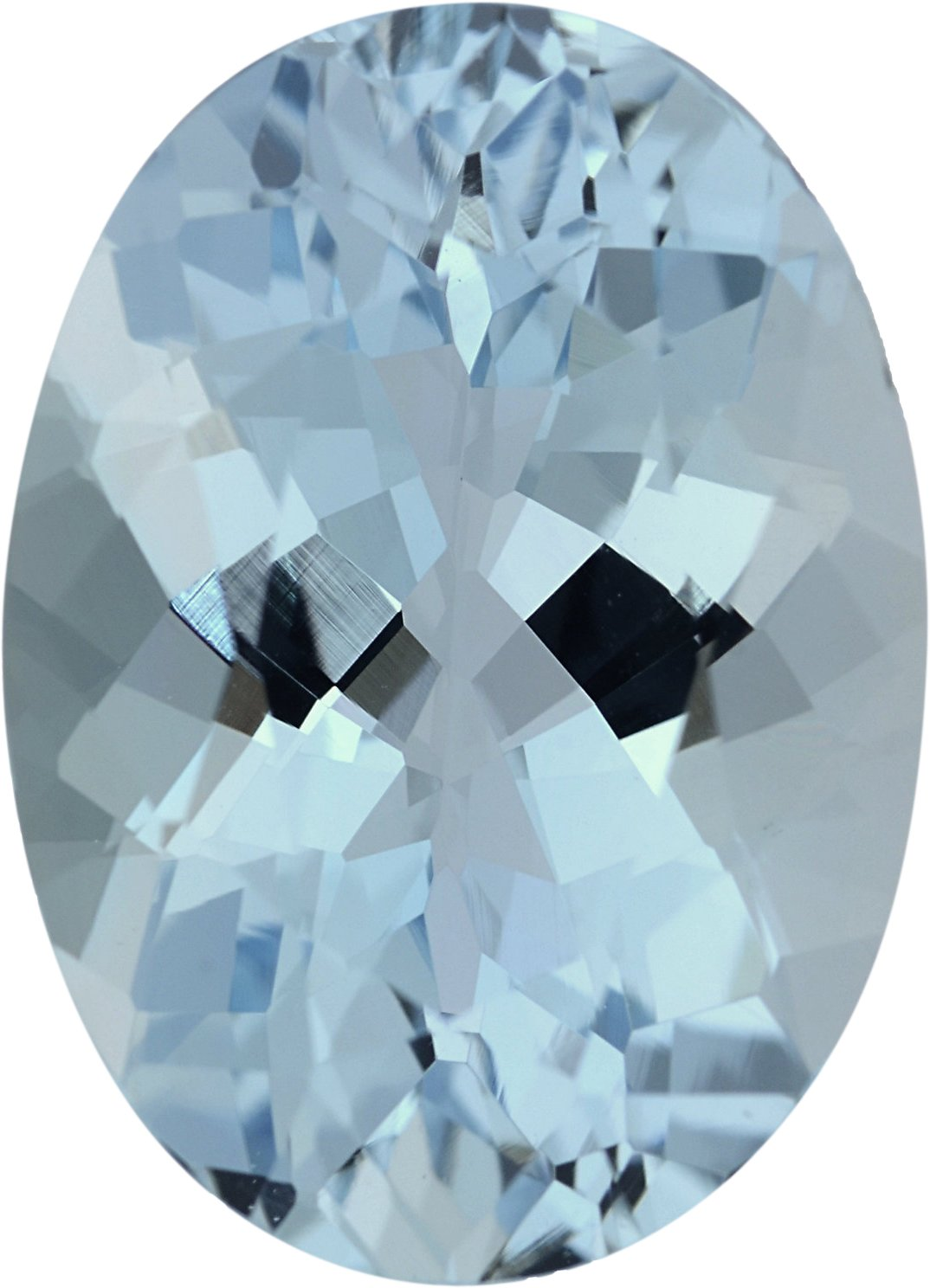 Sharp Aqua Loose Gem in Oval Cut, Light Green Blue, 14.01 x 10.06 mm, 5.19 Carats