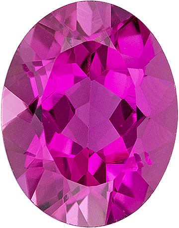 Sharp Vivid Pure Pink Brazilian Tourmaline - Calibrated Size, 9.1 x 7.2 mm, Oval Cut, 1.8 carats