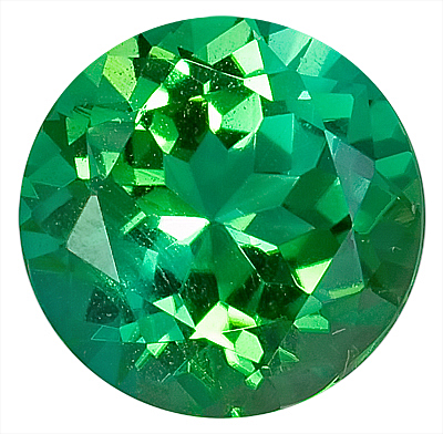 Shimmering Green Tourmaline Genuine Gemstone for SALE - Excellent Cut, 11.2 x 11.1 mm,  Round Cut, 11.2 x 11.1 mm, 5.28 carats