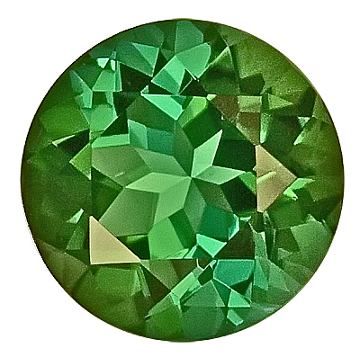 Shimmering Green Tourmaline Genuine Gemstone for SALE,  Round Cut, 8.9 x 8.8 mm, 2.81 carats