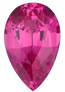 Shop Chatham Created Pink Sapphire Gemstone, Pear Shape, Grade GEM, 8.00 x 6.00 mm in Size, 1.69 Carats
