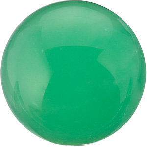 Shop Chrysoprase Gem, Round Shape Cabochon, Grade AAA, 10.00 mm in Size, 3.45 carats