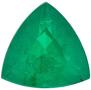 Genuine Gemstone  Emerald Gemstone, Trillion Shape, Grade AA, 6.00 mm in Size, 0.65 Carats