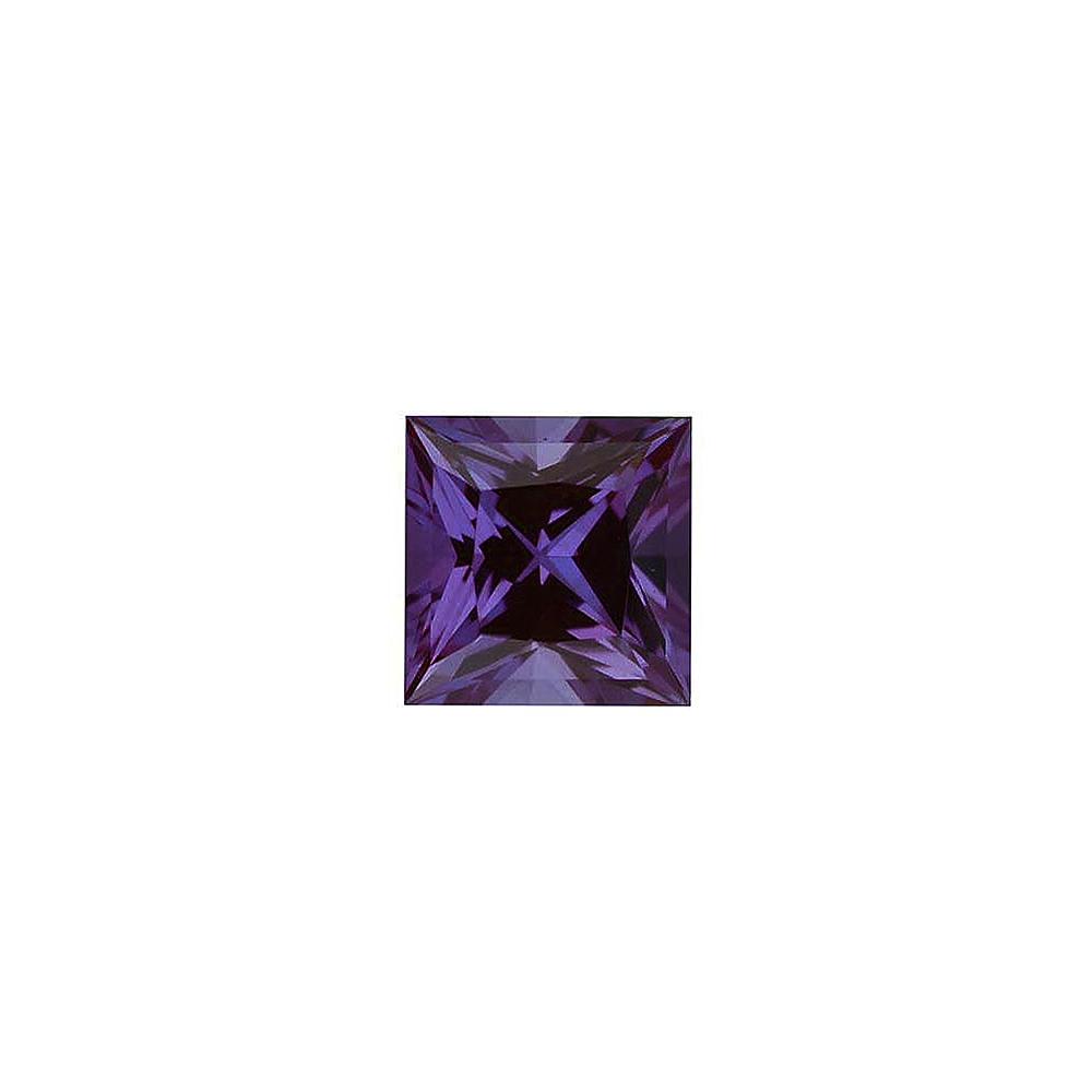 Shop For Chatham Created Alexandrite Stone, Princess Shape, Grade GEM, 3.00 mm in Size, 0.2 Carats