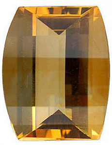 Shop For Golden Citrine Gem, Barrel Shape Fantasy Roll Top, Grade A, 10.00 x 8.00 mm in Size, 2.8 carats