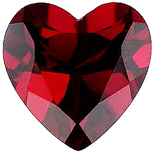 Shop For Imitation Red Garnet Stone, Heart Shape, 3.00 mm in Size