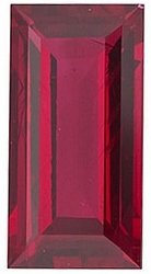 Shop For Ruby Gem, Baguette Shape, Grade AA, 3.00 x 1.75 mm in Size, 0.08 Carats