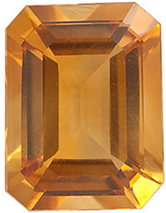 Shop Golden Citrine Gemstone, Emerald Shape, Grade A, 6.00 x 4.00 mm in Size, 0.55 carats