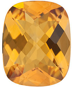 Shop Golden Citrine Stone, Antique Cushion Shape Checkerboard, Grade A, 9.00 x 7.00 mm in Size, 1.85 carats