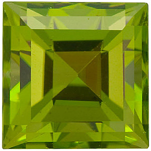 Shop Peridot Gemstone, Square Shape, Grade AA, 3.00 mm in Size, 0.16 Carats