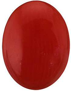 Shop Red Coral Gem, Oval Shape Cabochon, Grade AA, 8.00 x 6.00 mm in Size
