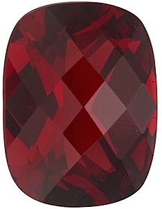 Shop Red Garnet Gem, Antique Cushion Shape Checkerboard, Grade AAA, 10.00 x 8.00 mm in Size, 3.65 carats