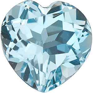 Sky Blue Topaz in Grade AAA in Heart Cut