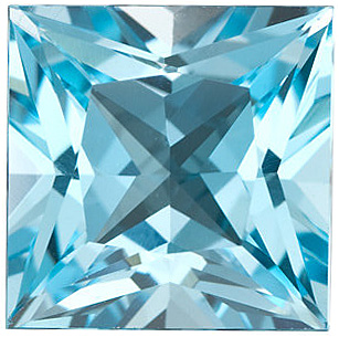 Sky Blue Topaz in Grade AAA in Princess Cut