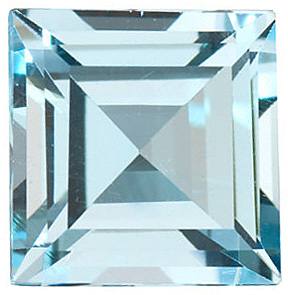 Sky Blue Topaz in Grade AAA in Square Cut