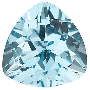 Sky Blue Topaz in Grade AAA in Trillion Cut