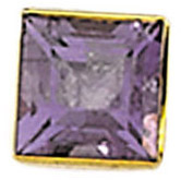 Sleek 14kt Gold Bezel Jewelry Finding with Bearing for Princess Gemstone Size 2mm to 7mm
