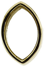Sleek 14kt Gold Low Straight Full Bezel Setting for Marquise Shape Gemstone Sized 5.60 x 3.50 mm to 8.40 x 3.50 mm