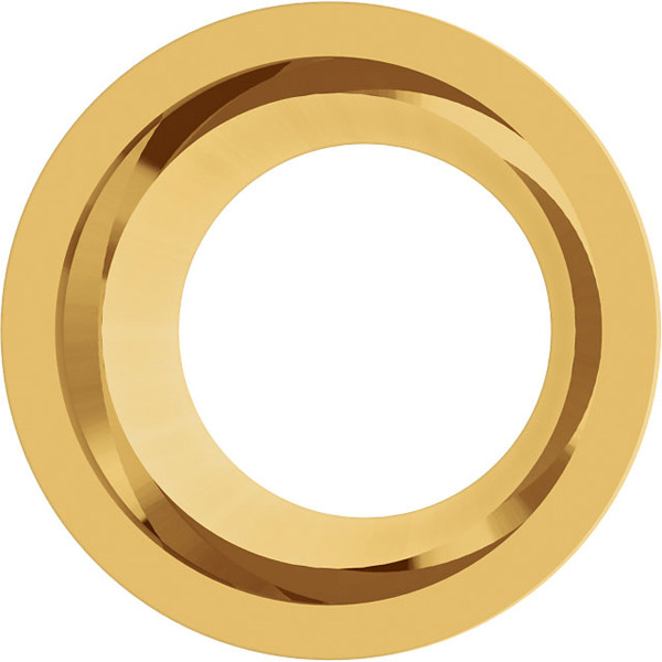 Sleek 14kt Gold Tapered Bezel Jewelry Finding for Round Gemstones Size 3mm to 7.40mm
