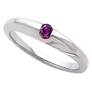 Sleek Stunning Real Alexandrite Gem in Gold Band Set With Gorgeous 4.00mm 0.25 ct GEM Grade Round Alexandrite Gemstone