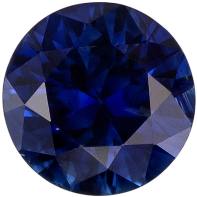 So Pretty Gemstone Blue Sapphire Round Cut, 0.65 carats, 5.2 mm