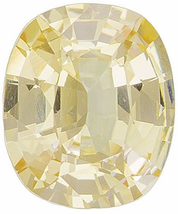 Soft Look on Light Pastel Yellow Sapphire, 6.7 x 5.6 mm, Cushion Cut, 1.12 carats