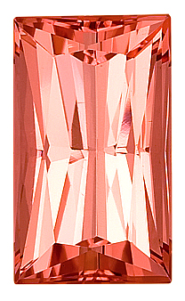 Soft Peachy-Pink Natural Faceted Loose Tourmaline Gemstone for SALE,  Radiant Cut, 17 x 10.1 mm, 11.75 carats