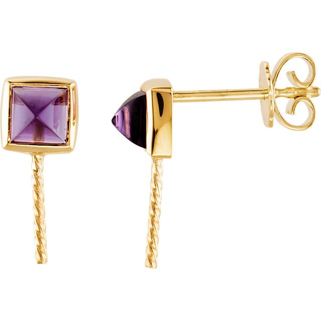 South Sea Cultured Pearl and Amethyst Earrings