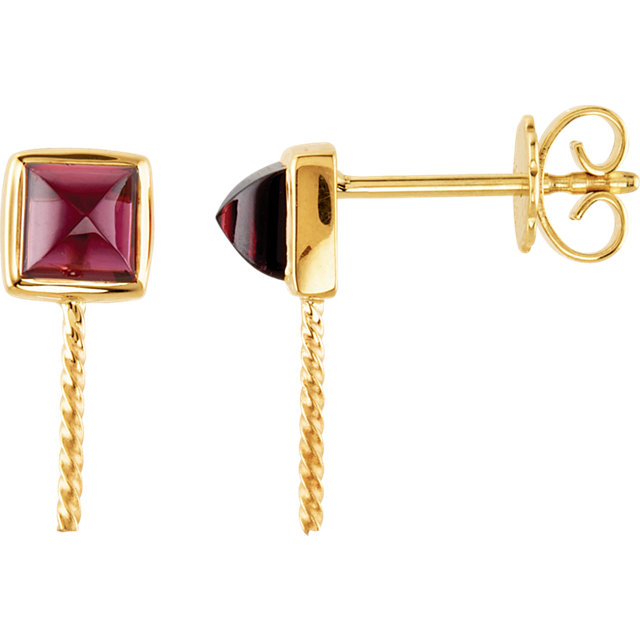 South Sea Cultured Pearl and Rhodolite Garnet Earrings