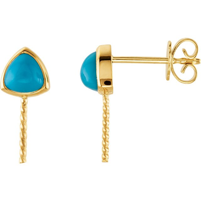 South Sea Cultured Pearl and Turquoise Earrings