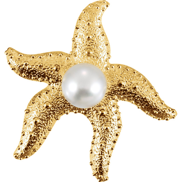 South Sea Cultured Pearl Starfish Brooch