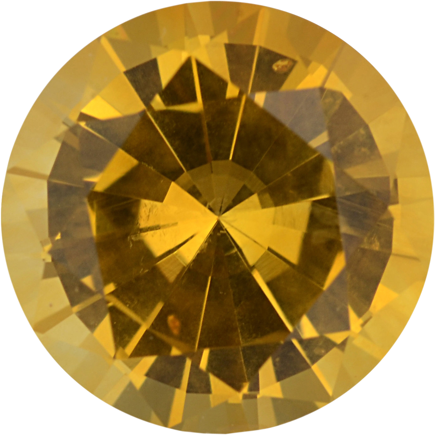 Special Buy On Sapphire Loose Gem in Round Cut, Light Orangy Yellow, 6.8 mm, 1.36 Carats