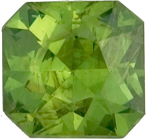 Special Gem in No Treatment Octagon Clean Green Demantoid Garnet, 6.8 x 6.7mm, 1.58 carats