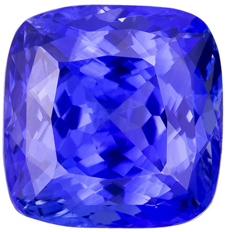 Special GIA Certed Unheated Blue Sapphire Cushion Cut Gem, Rich Cornflower Blue Color in 8.9 x 8.7 mm, 4.68 carats