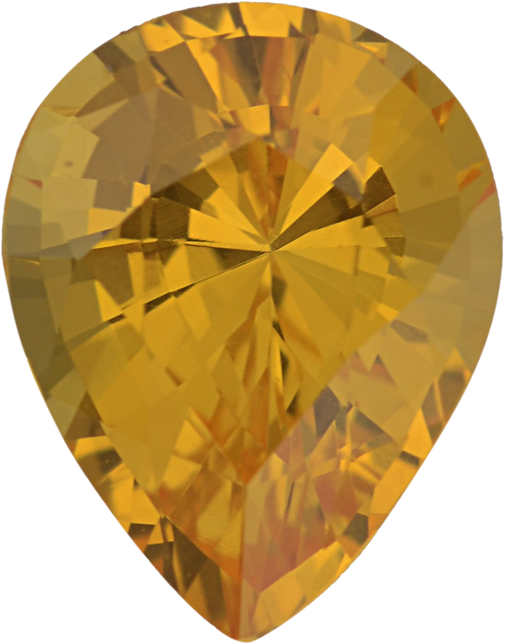 Special Sapphire Loose Gem in Pear Cut, Light Yellow, 7.47 x 5.83  mm, 1.21 Carats