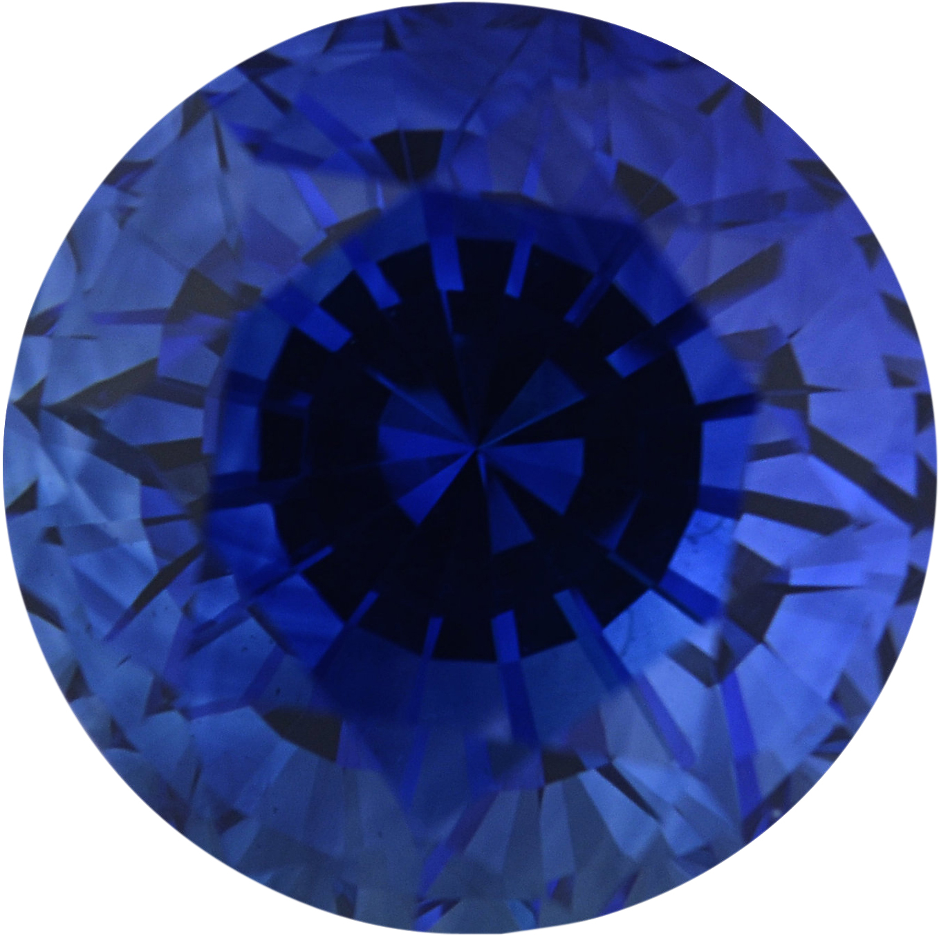 Special Sapphire Loose Gem in Round Cut, Medium Violet Blue, 6.89 mm, 1.9 Carats