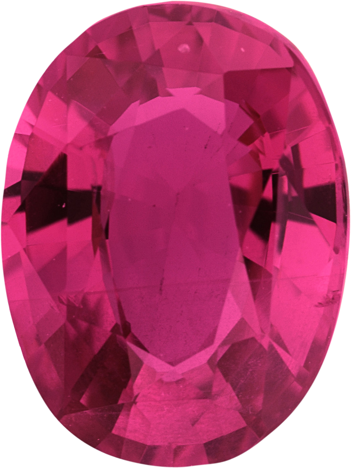 Special  Untreated Ruby Loose Gem in Oval Cut, Medium Purple Red, 8.67 x 6.47  mm, 2.05 Carats