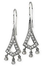Spectacular 1/2 Carat Diamond Chandelier Earrings in 14k White Gold for SALE - .5 cts - SOLD