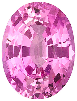 Spectacular Ceylon Pink Sapphire Gemstone - Even Color & Very Pretty, Oval Cut, 7.8 x 5.9 mm, 1.43 carats