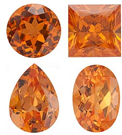 SPESSARTITE GARNET     Standard Sizes