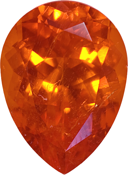 Spessartite Sunkist Orange Namibian Origin in German Cut, Vivid Deep Orange Color in 12.6 x 9.2 mm, 5.42 carats