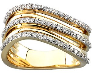 Splendid 0.50 Carat Total Weight 1.20 mm Diamond Ring set in 14 karat Yellow Gold