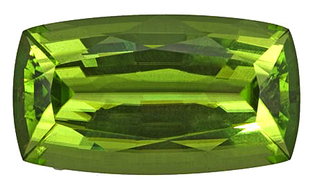Splendid Vibrant Green Natural Peridot Gemstone for SALE, Antique Cushion Cut, 12.63 carats