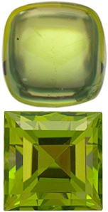 <b>Peridot Square Cut - Calibrated</b>