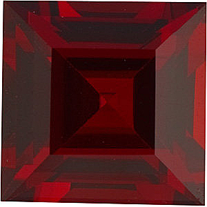 Square Genuine Red Garnet in Grade AAA